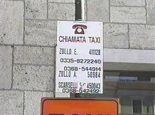 Taxi ads at the train station