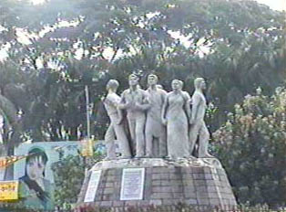 Sculptures on and near Dhaka University representing the Liberation Movement's fight for independence in 1971