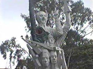 Close up views of a sculpture
