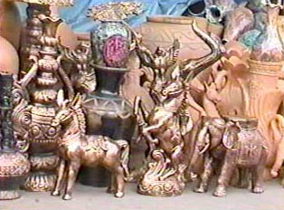 Clay and brass handicrafts