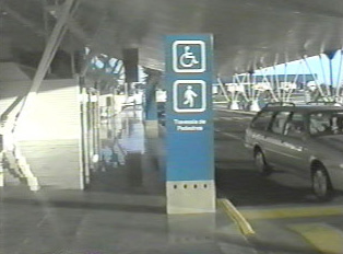 Airport passenger drop-off point