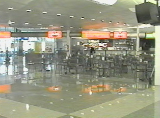 Airport food court