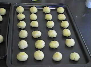 Cheese bread before baking