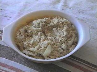 A cassava flour dish
