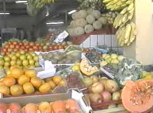 Close-up of fruit stand
