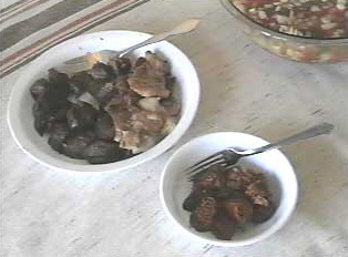 Selection of barbecued meats