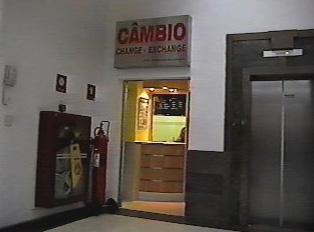 Exchange bureau in a mall