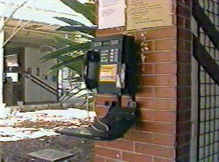 Public phone in the north