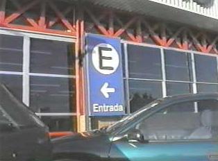 Parking entrance sign