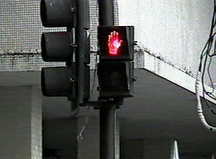 Pedestrian sign: Don't walk