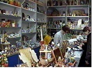Inside a gift shop