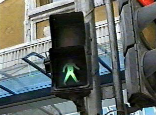 Pedestrian light: Walk