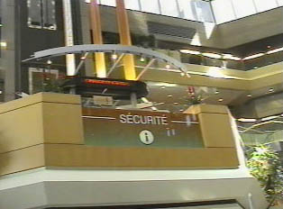 Security and information desk at the mall