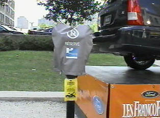 Parking meter space reserved
