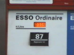 Gas pump, regular gas