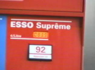 Gas pump, top grade gas