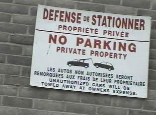 Parking prohibited