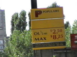 Prices for parking in a lot