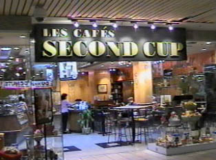 Coffee shop in the shopping mall