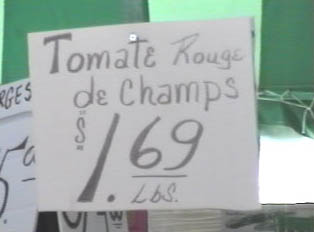 Tomatoes sold by the pound