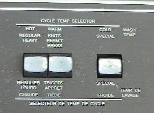 Cycle temperature selector