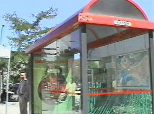 Downtown bus stop