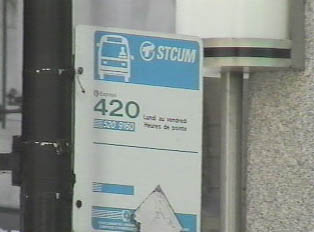 Sign for an express bus route