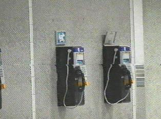 Public phones in the metro