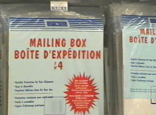 Mailing boxes sold in the post office