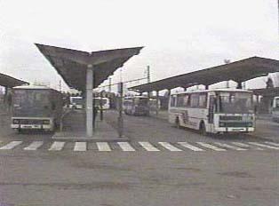 Bus station in Rokycany