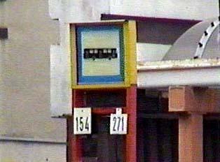 Municipal bus stop sign