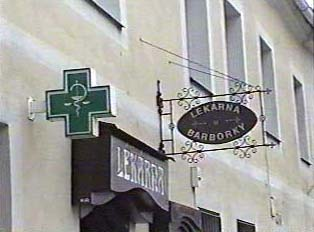 Signs for the pharmacy