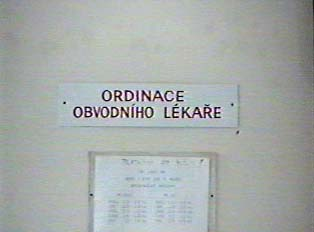 Sign for an examining room for a doctor