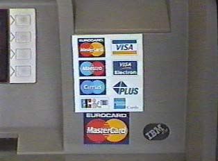 List of credit cards accepted at most ATMs