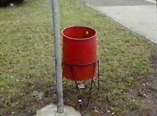 A public trash can
