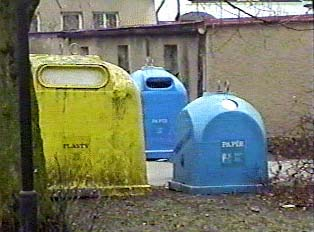 Public recycling bins