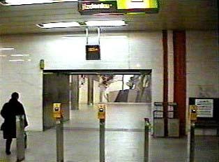 Entrance to subway terminal