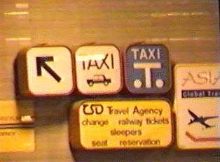 Sign for Taxi