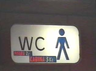 Restroom sign for men