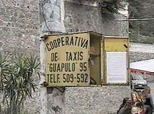 Taxi service sign