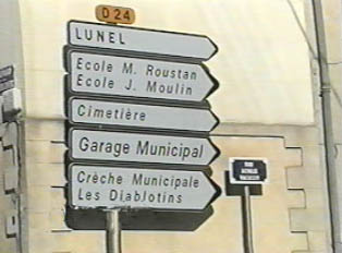 Directional signs in a city