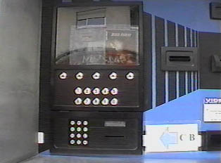 Automatic video rental machine