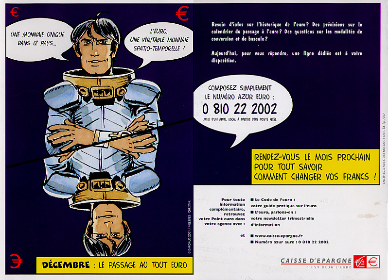A brochure describing the change from Francs to Euro
