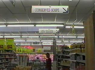 Inside a supermarket