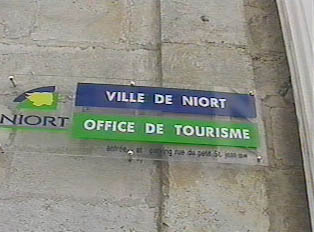 Tourist information office sign