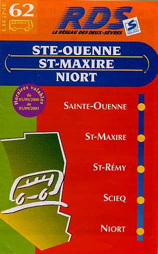 Cover of bus schedule