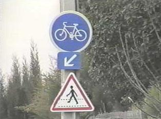 Pedestrian and bike crossing