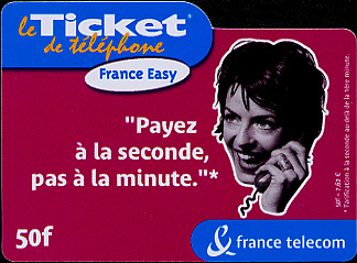 This is a pre-paid phone card for use within France only.