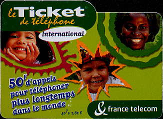 Pre-paid phone card for the whole world