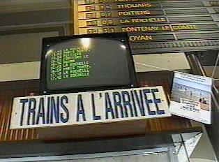 Train arrival information